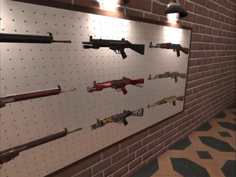A few weapons on offer.