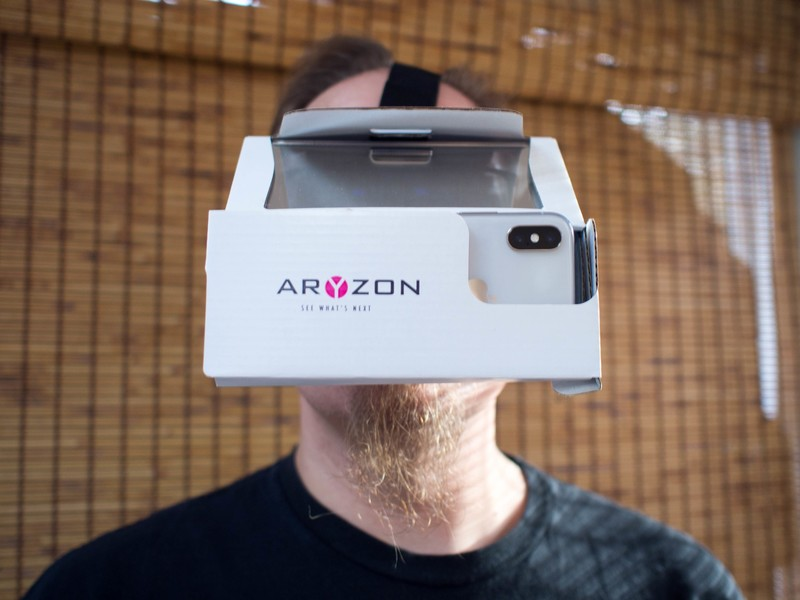 there are now ar headsets made like google cardboard vrheads. Black Bedroom Furniture Sets. Home Design Ideas