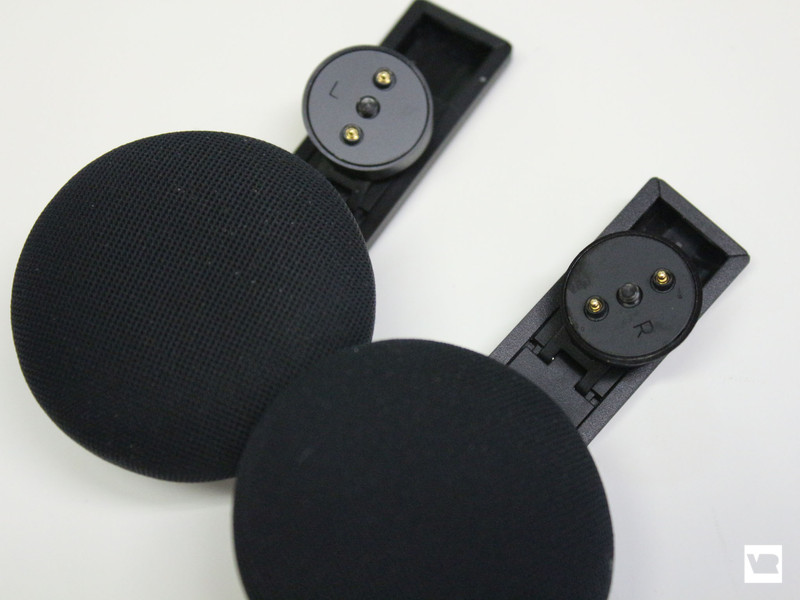 Left and right earpieces