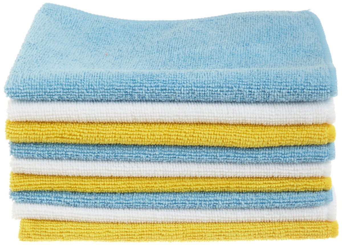 AmazonBasics Microfiber Cleaning Cloths - 24 pack