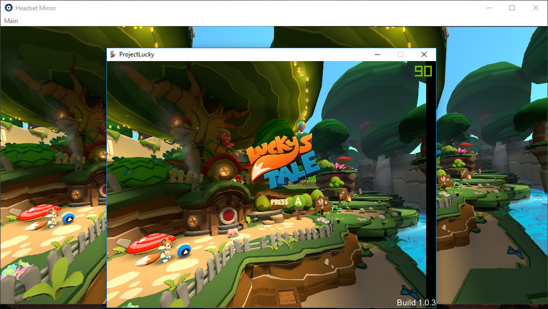 Lucky's Tale in Vive