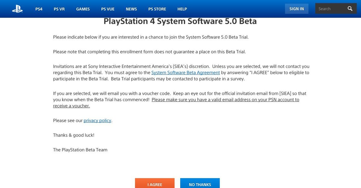 How to Sign Up for the Playstation Beta Channel | VRHeads