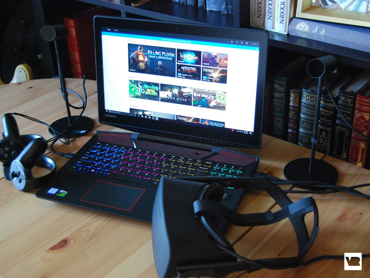 Legion Y720 with a Rift hooked up