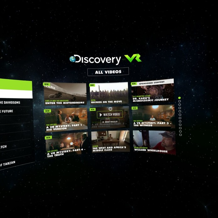 Discovery VR Gear VR