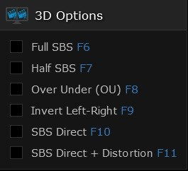 3D Viewing Options