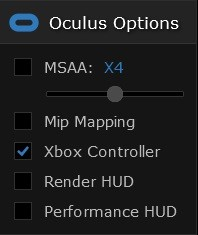 Oculus Options