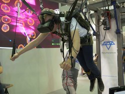 Skydiving in VR with Para Parachute at Computex