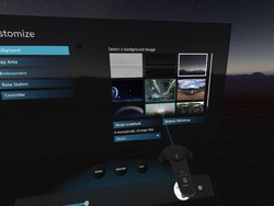 How to set custom backgrounds on the HTC Vive