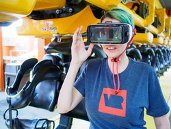 Take a ride on a roller coaster in VR!