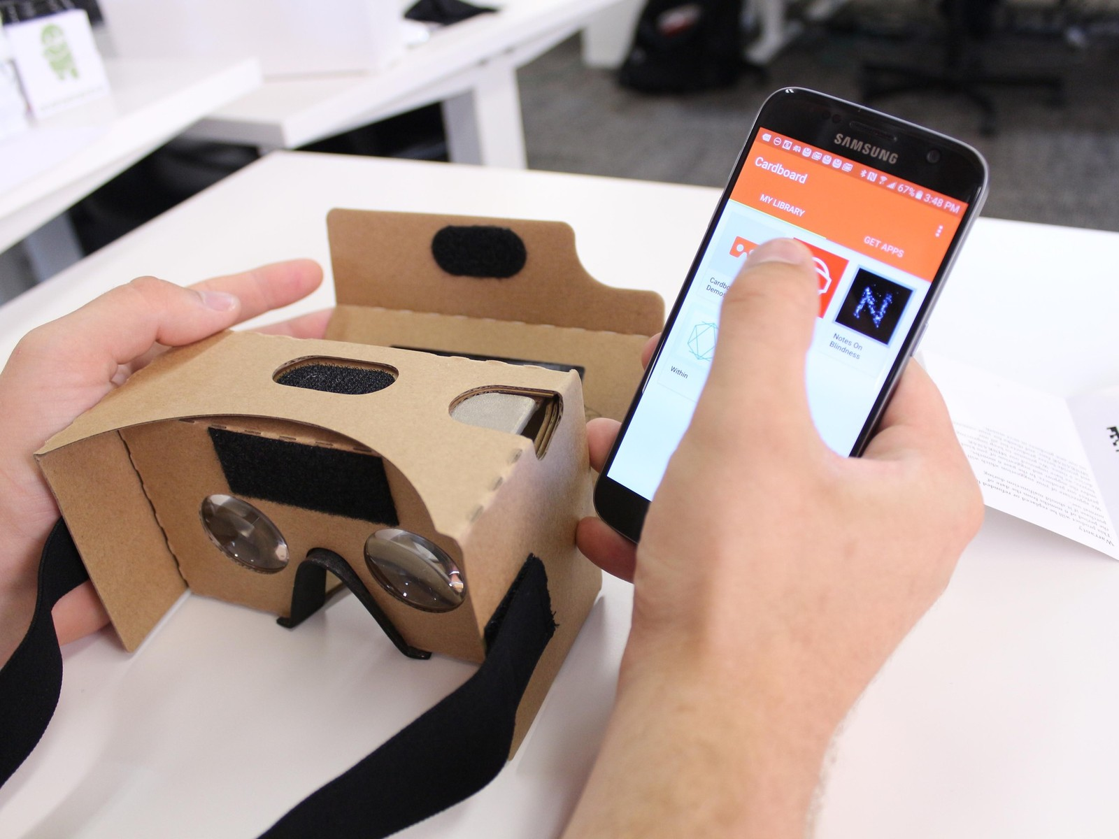 Next, load up a VR experience or game on your phone.
