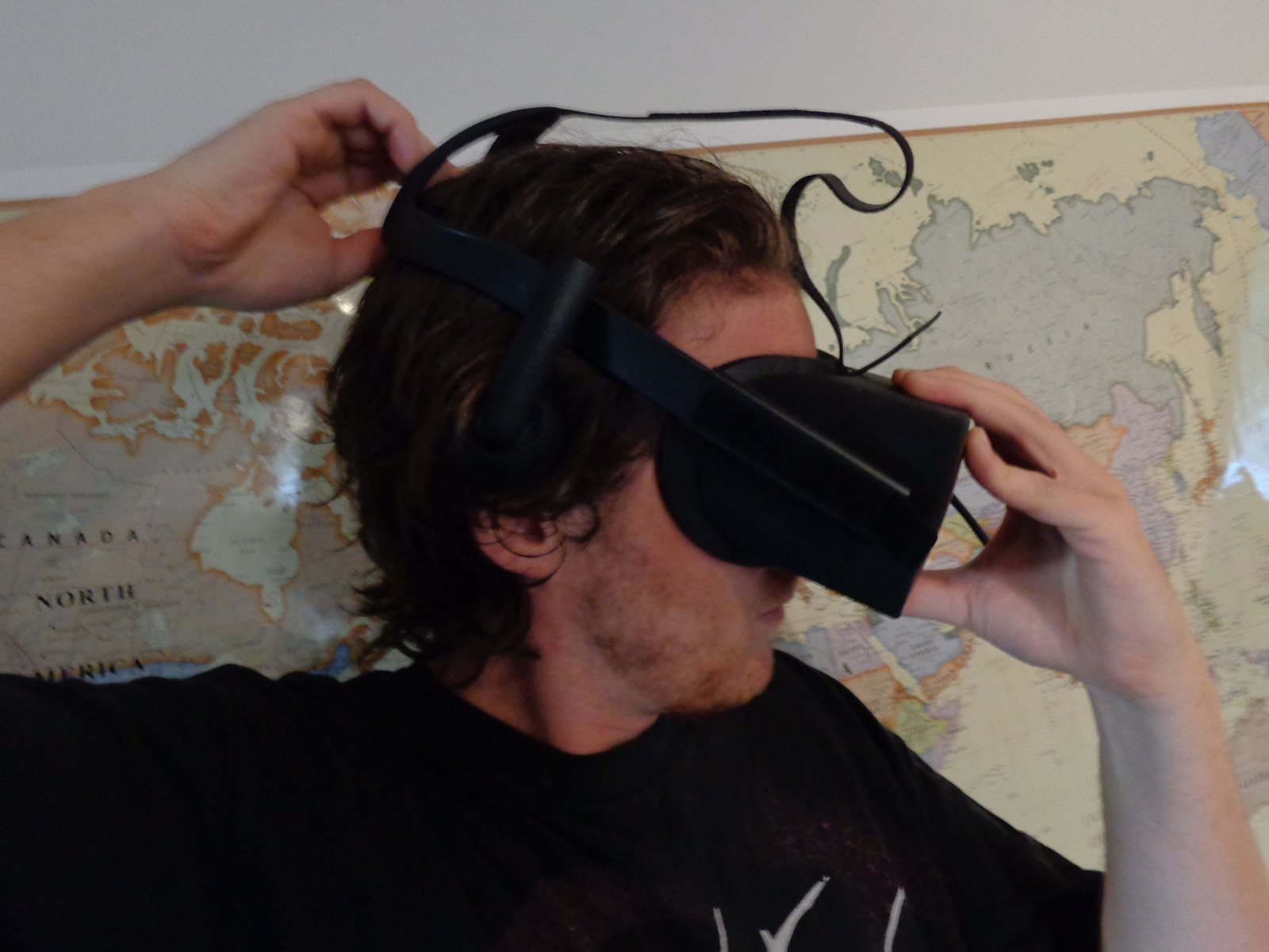 Properly fit the Rift on your head.