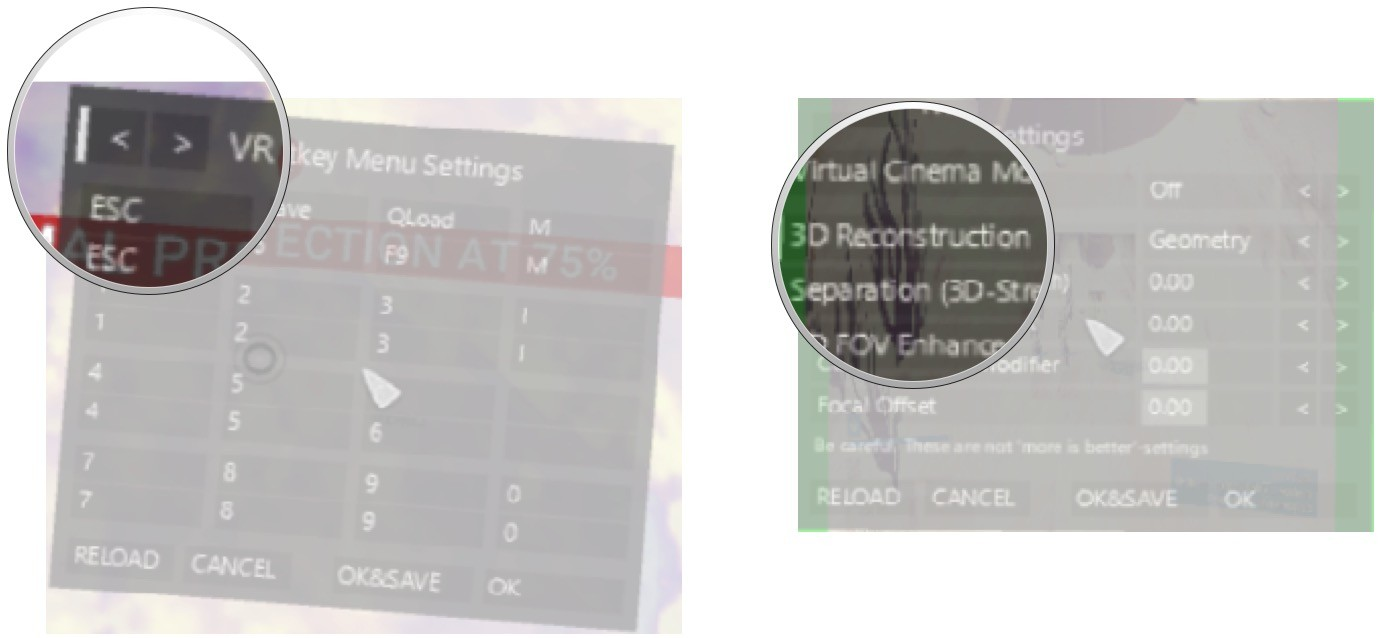 Navigate to the Main Settings menu. Change 3D Reconstruction to Geometry.