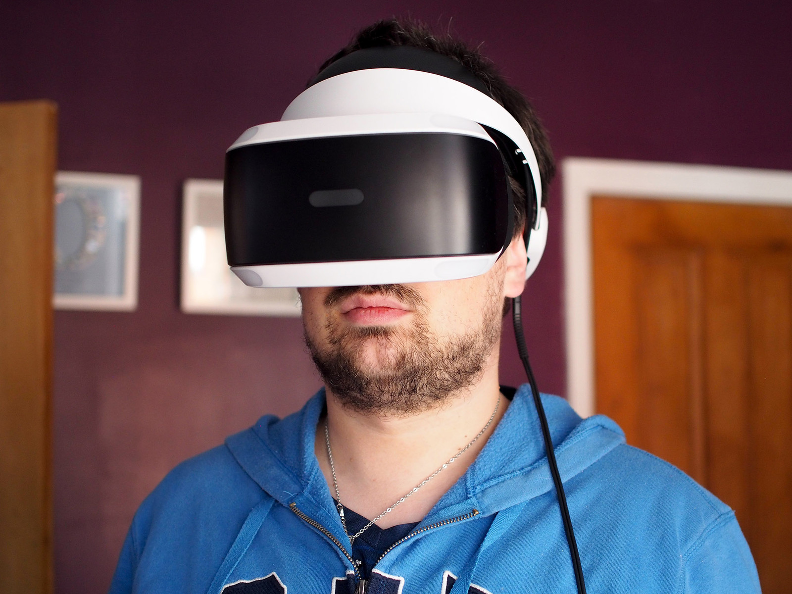 Richard using PSVR