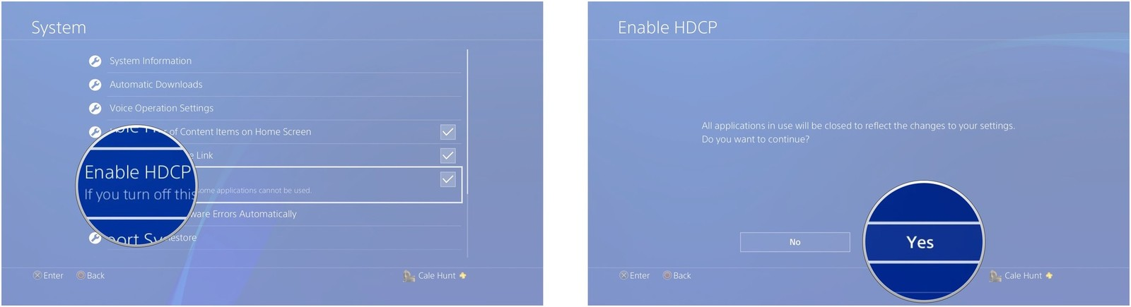 Click Enable HDCP. Click Yes.
