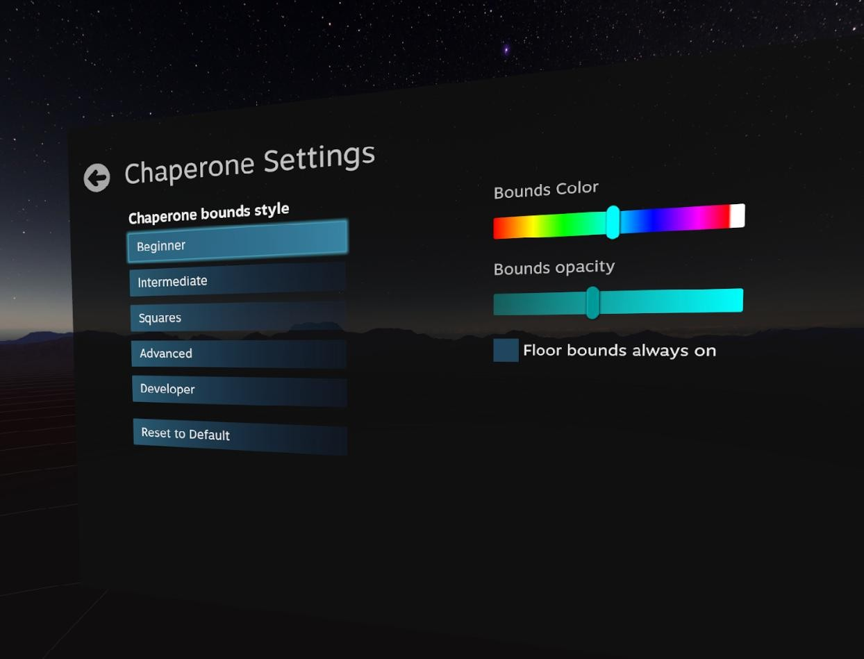 How to customize the HTC Vive's Chaperone with SteamVR | VRHeads