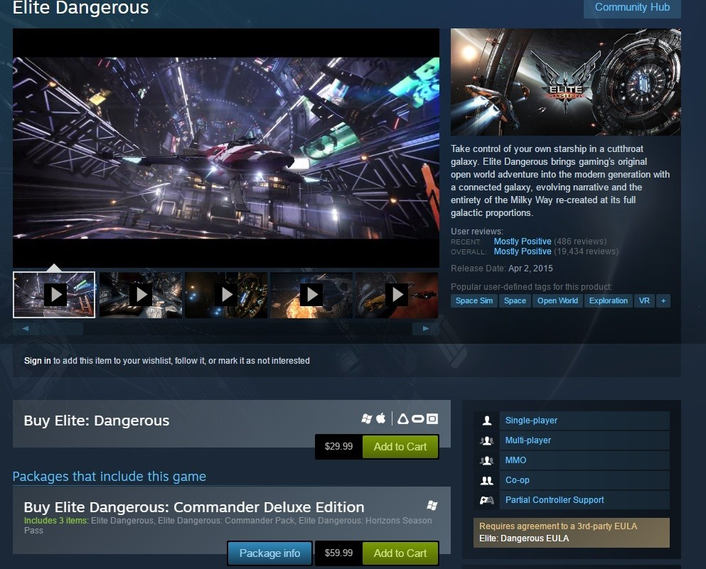 How to enable VR for Elite: Dangerous | VRHeads