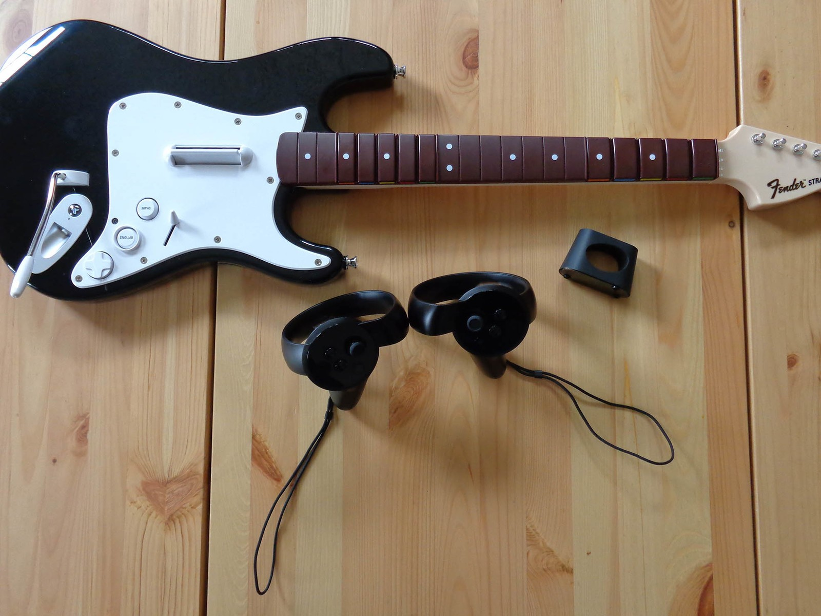 How to connect your Oculus Touch controller to the Rock Band guitar