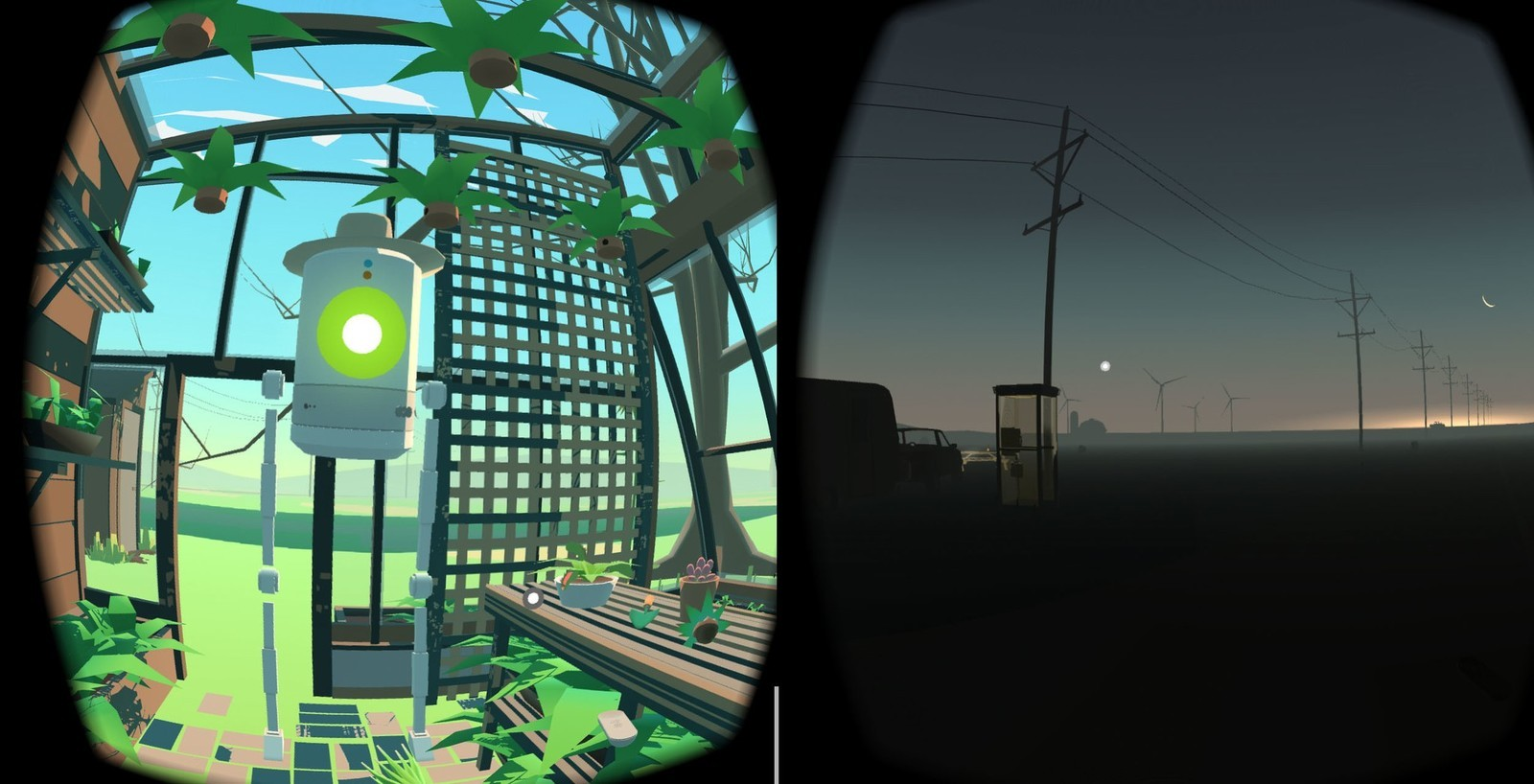 The environments in Virtual Virtual Reality give off an emotive feel