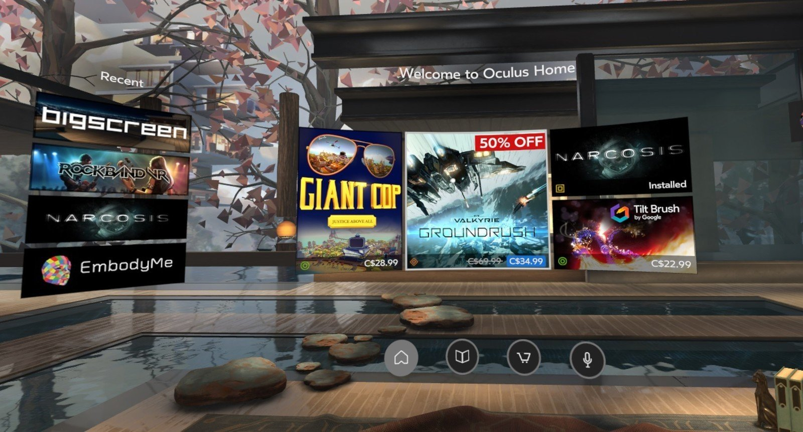 How to use the Oculus Store