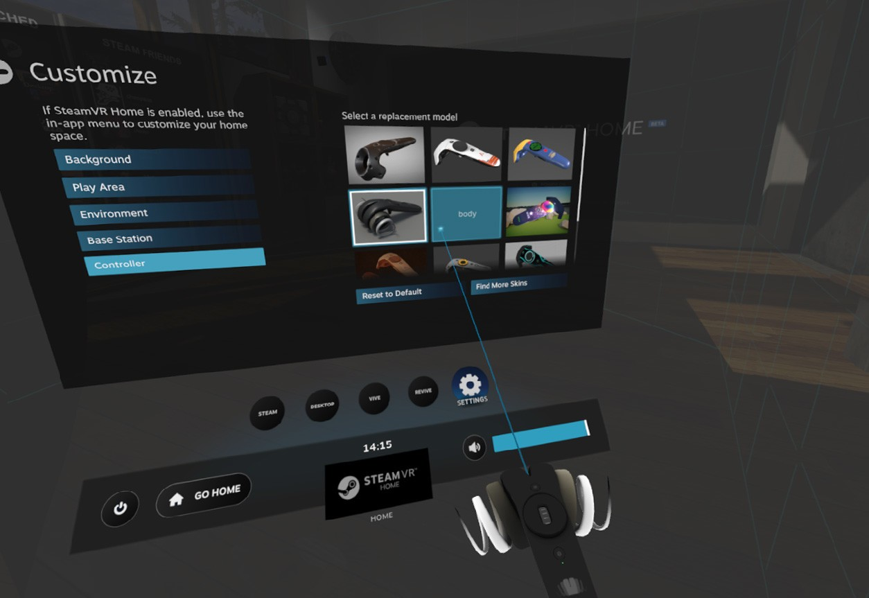 How to apply skins to your HTC Vive controllers | VRHeads
