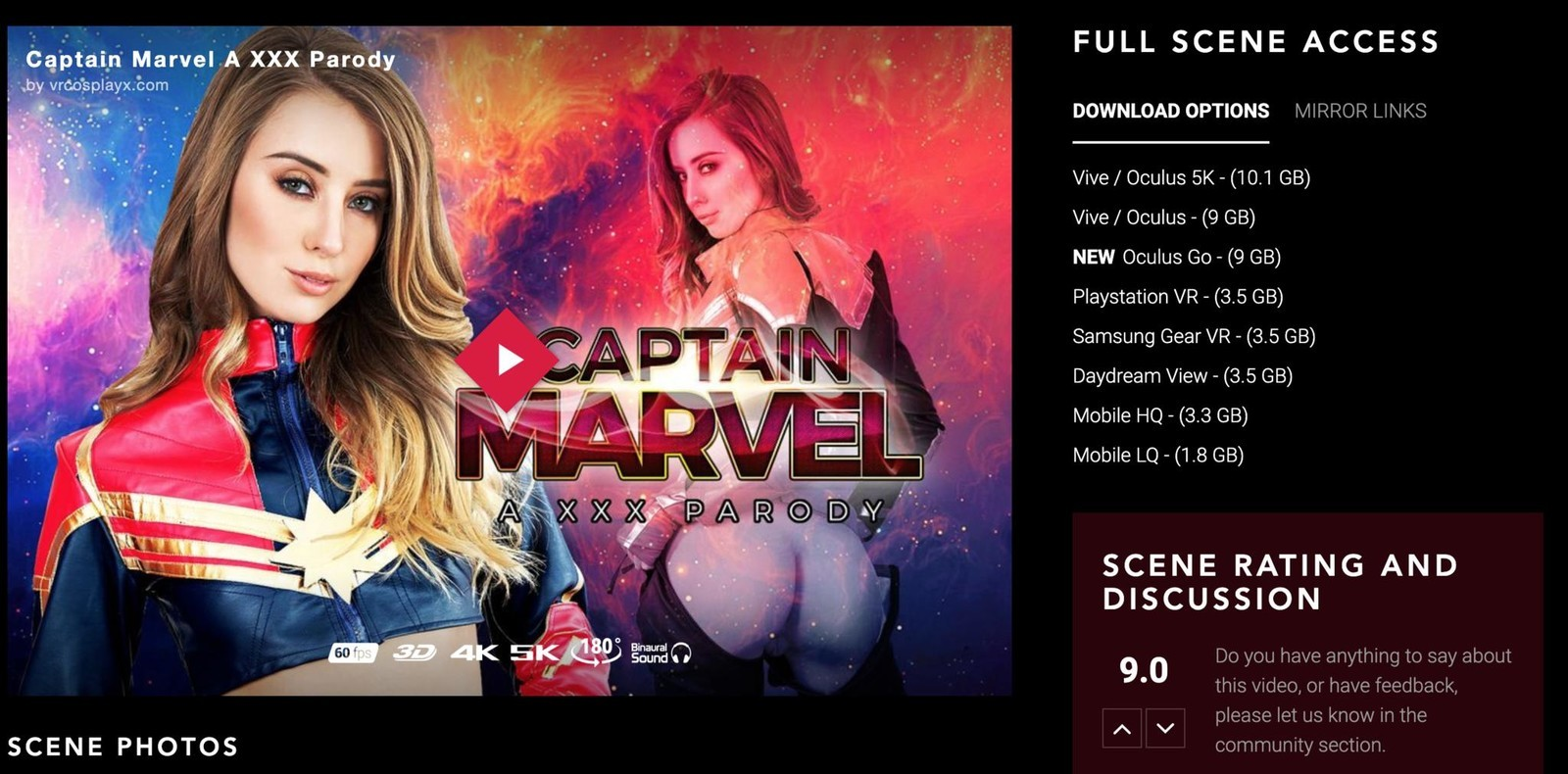 Captain Marvel on VRCosplayX